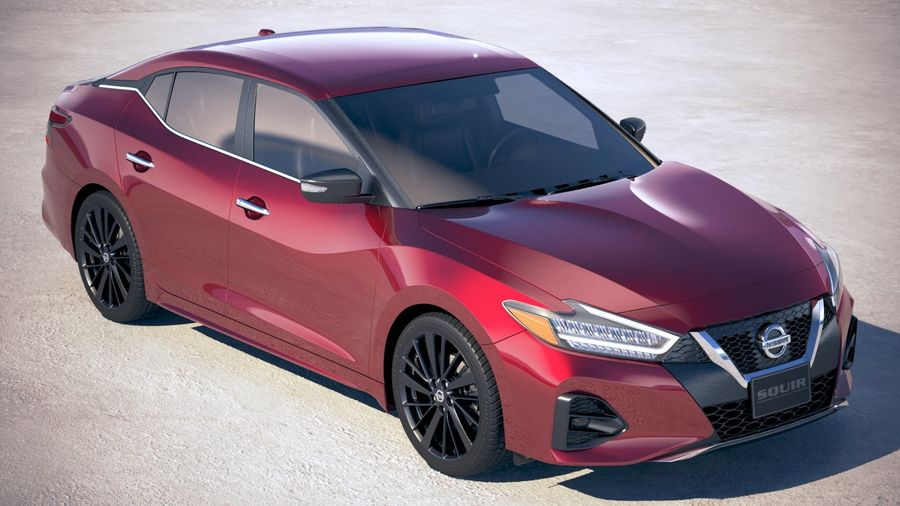 Nissan Maxima 2019 royalty-free 3d model - Preview no. 12