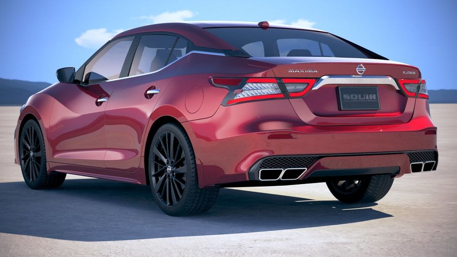 Nissan Maxima 2019 royalty-free 3d model - Preview no. 14