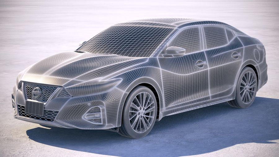 Nissan Maxima 2019 royalty-free 3d model - Preview no. 25
