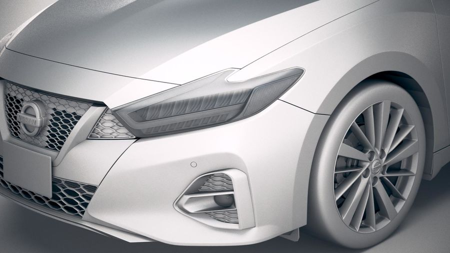 Nissan Maxima 2019 royalty-free 3d model - Preview no. 19