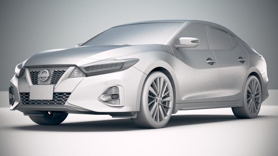 Nissan Maxima 2019 royalty-free 3d model - Preview no. 23