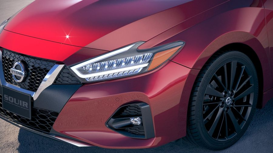 Nissan Maxima 2019 royalty-free 3d model - Preview no. 3