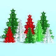Floresta de árvore de Natal 3d model