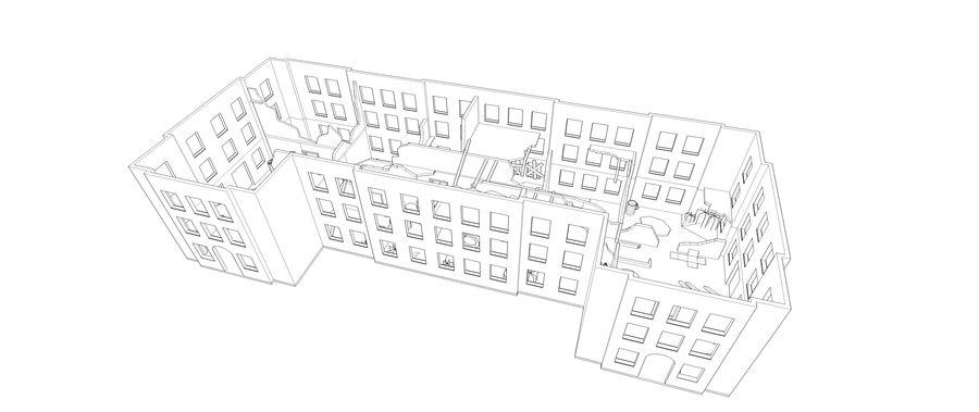 被遗弃的建筑物-室内 royalty-free 3d model - Preview no. 8