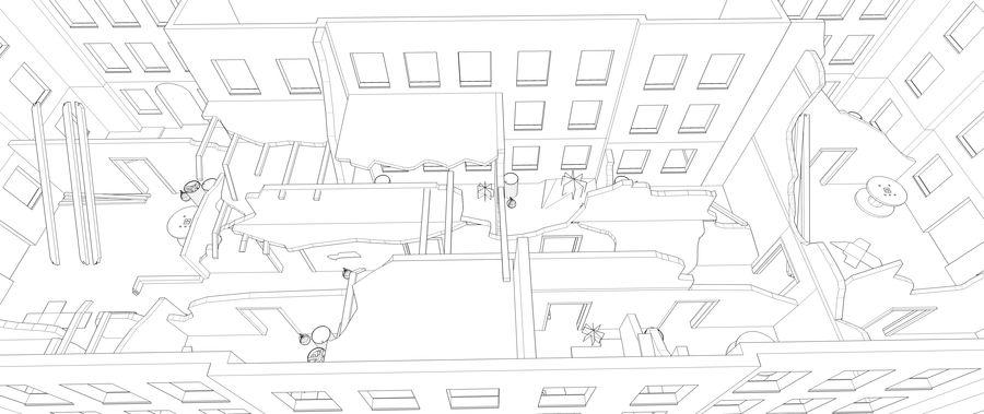 被遗弃的建筑物-室内 royalty-free 3d model - Preview no. 10