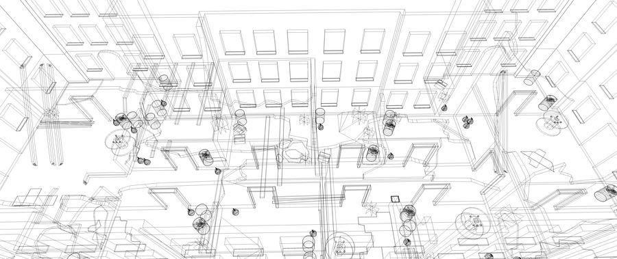 被遗弃的建筑物-室内 royalty-free 3d model - Preview no. 11