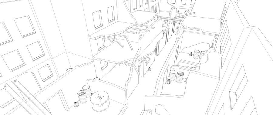 被遗弃的建筑物-室内 royalty-free 3d model - Preview no. 9