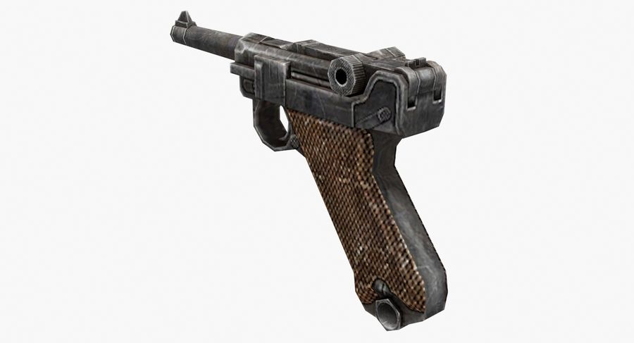 Luger royalty-free 3d model - Preview no. 6
