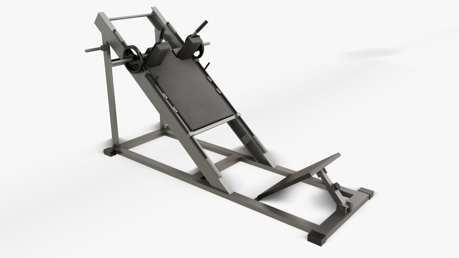 Gym Equipments royalty-free 3d model - Preview no. 30