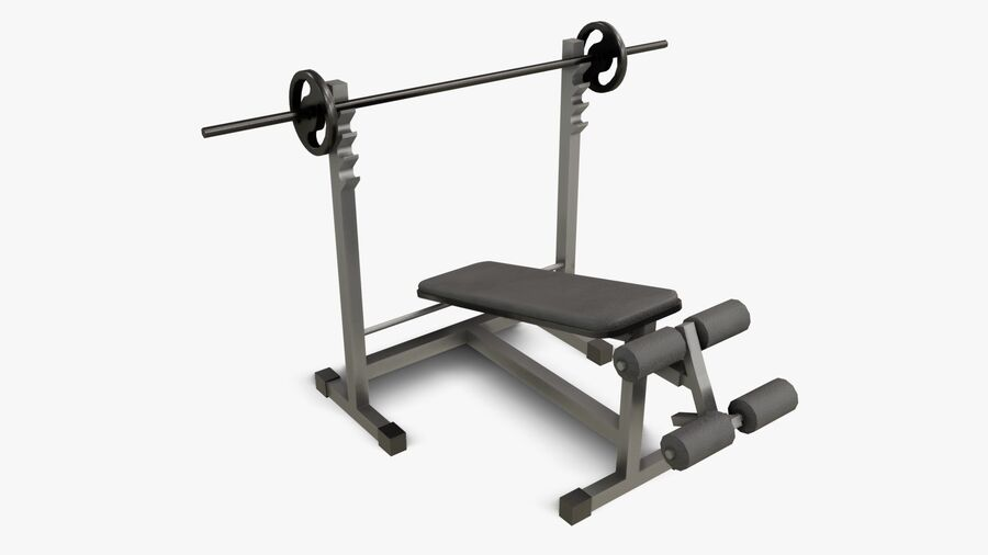 Gym Equipments royalty-free 3d model - Preview no. 14