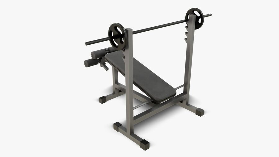 Gym Equipments royalty-free 3d model - Preview no. 15