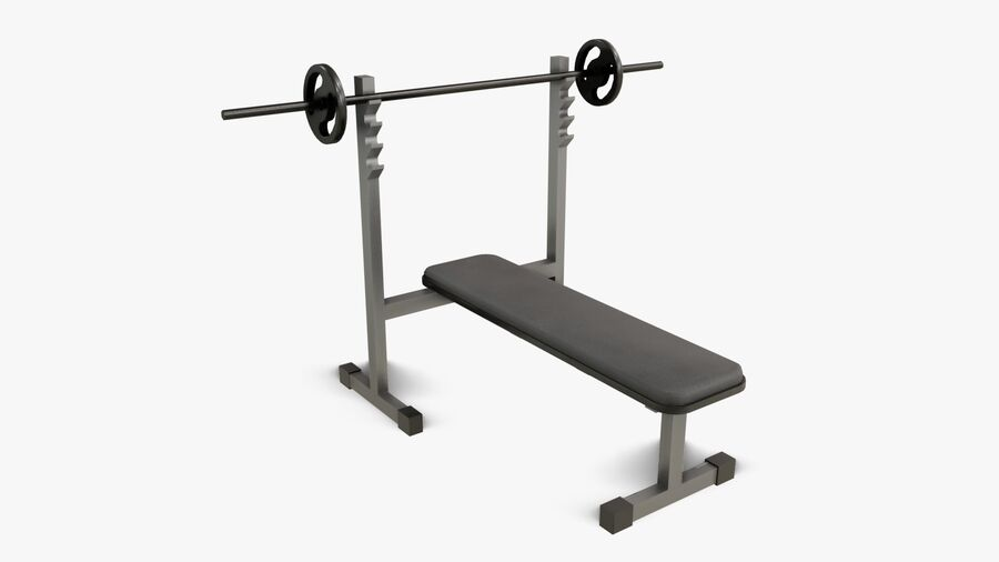 Gym Equipments royalty-free 3d model - Preview no. 10