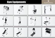 Gym Equipments 3d model