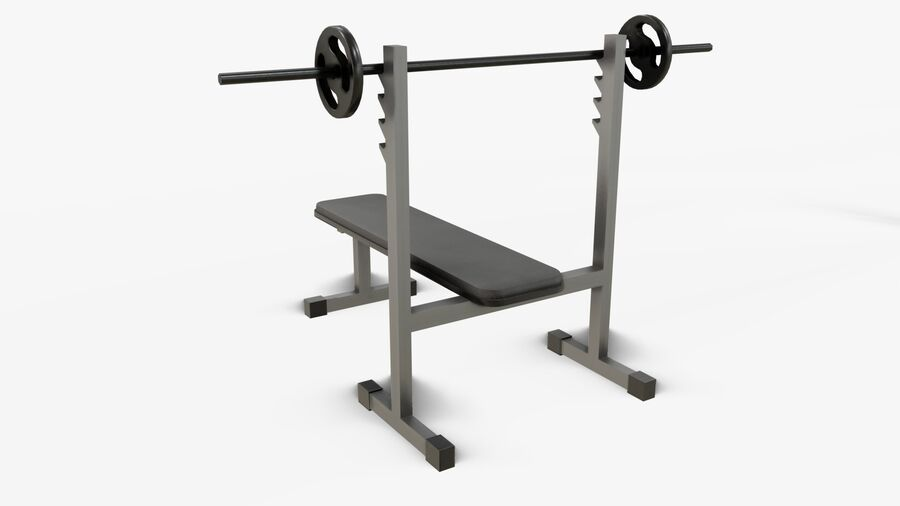 Gym Equipments royalty-free 3d model - Preview no. 11