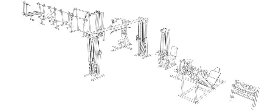 Equipos de gimnasio royalty-free modelo 3d - Preview no. 28
