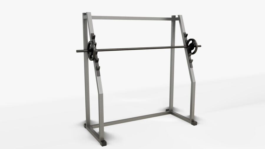 Gym Equipments royalty-free 3d model - Preview no. 16
