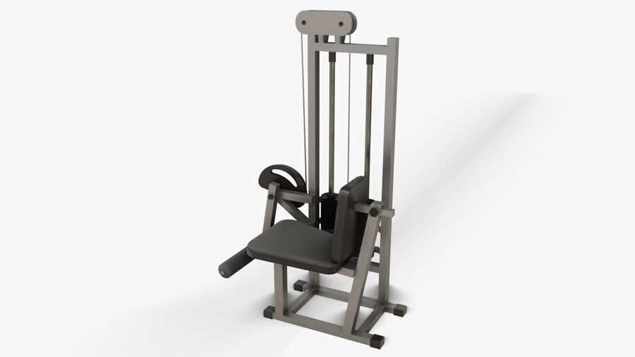 Gym Equipments royalty-free 3d model - Preview no. 25