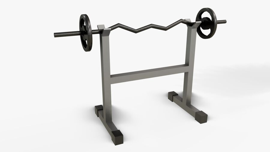 Gym Equipments royalty-free 3d model - Preview no. 36