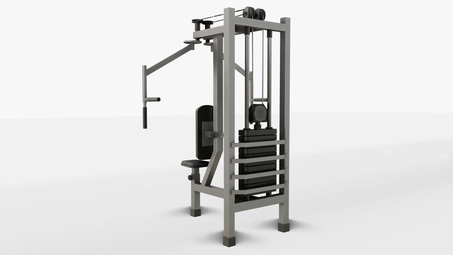 Gym Equipments royalty-free 3d model - Preview no. 35
