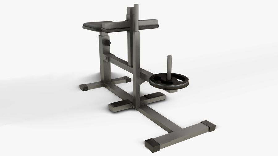 Gym Equipments royalty-free 3d model - Preview no. 26