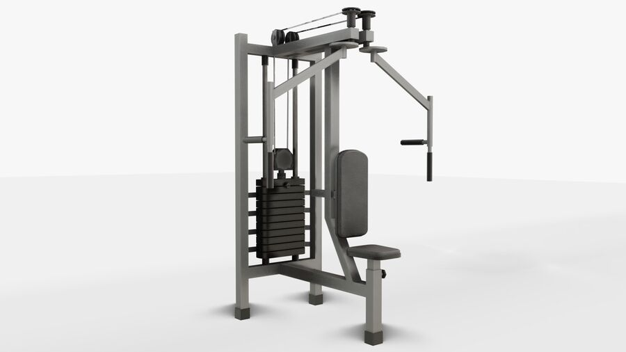 Gym Equipments royalty-free 3d model - Preview no. 34