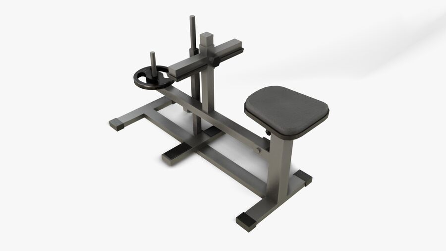 Gym Equipments royalty-free 3d model - Preview no. 27