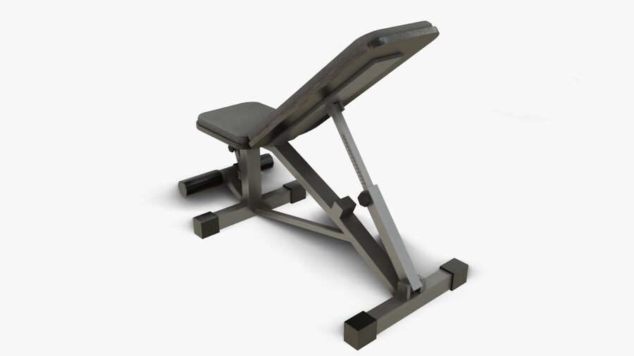 Gym Equipments royalty-free 3d model - Preview no. 9