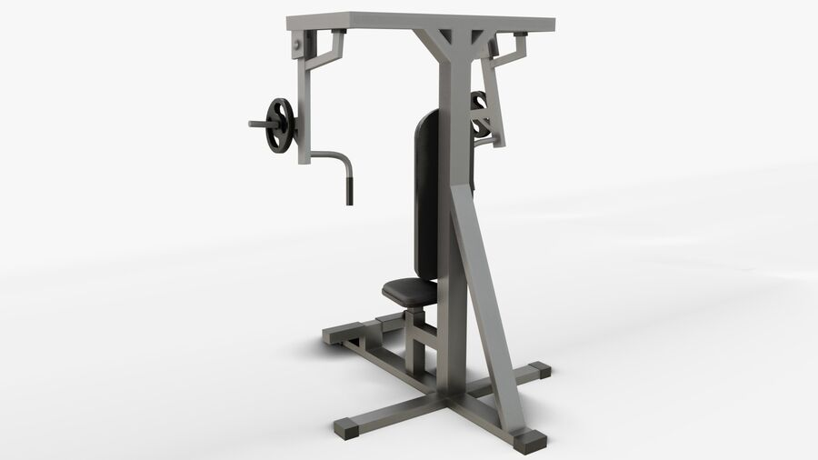 Gym Equipments royalty-free 3d model - Preview no. 21