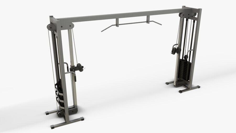 Gym Equipments royalty-free 3d model - Preview no. 23