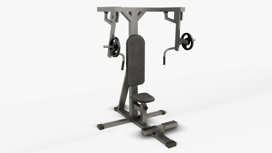 Gym Equipments royalty-free 3d model - Preview no. 20