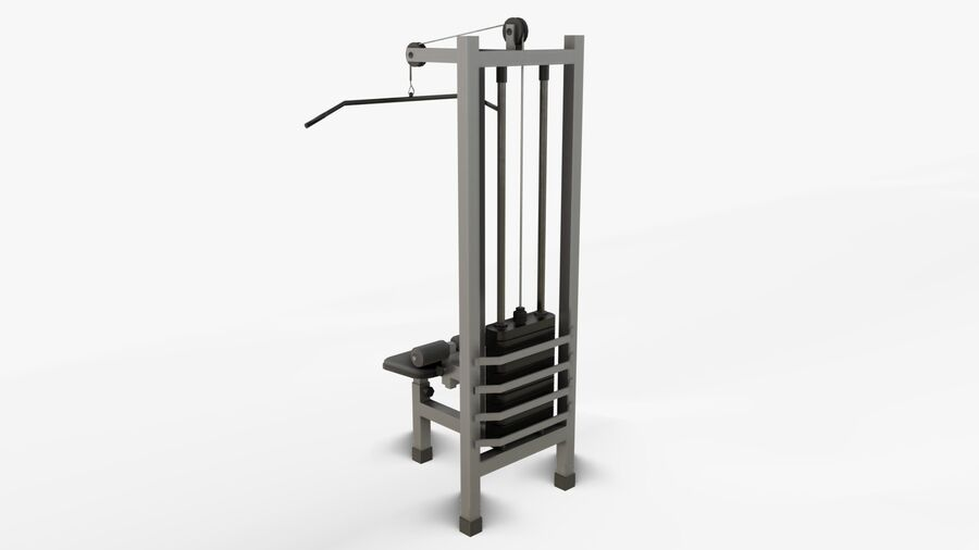 Gym Equipments royalty-free 3d model - Preview no. 19