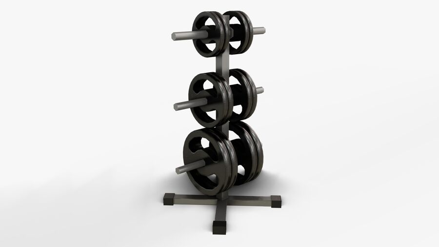 Gym Equipments royalty-free 3d model - Preview no. 38