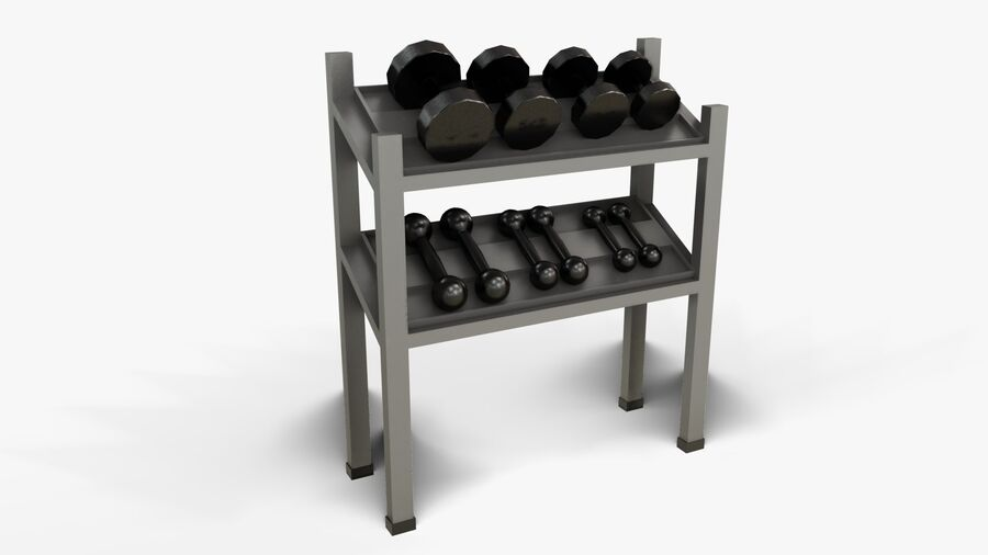 Gym Equipments royalty-free 3d model - Preview no. 37