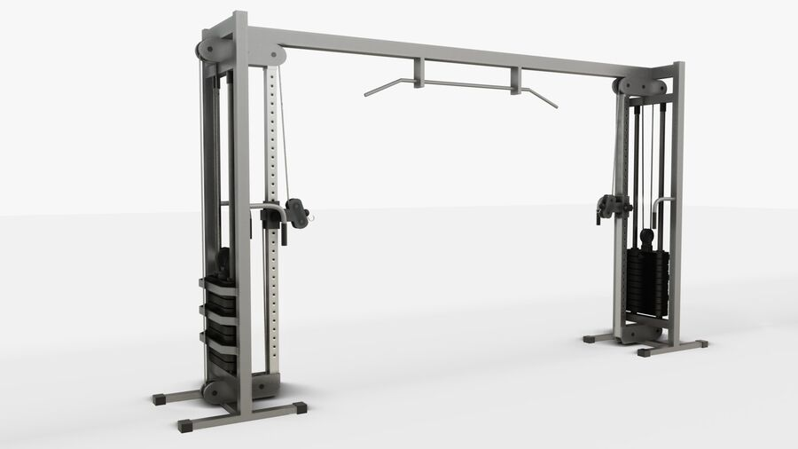 Gym Equipments royalty-free 3d model - Preview no. 22