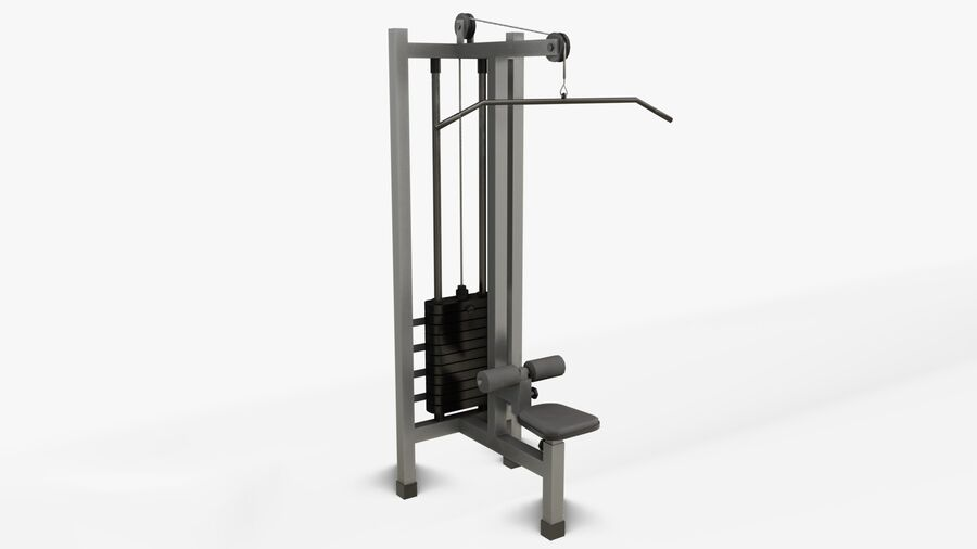 Gym Equipments royalty-free 3d model - Preview no. 18