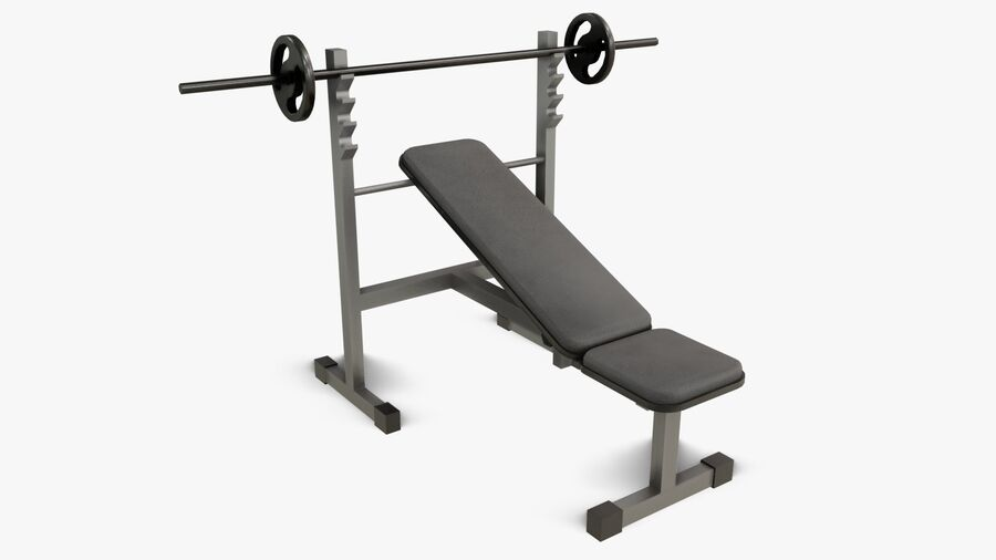 Gym Equipments royalty-free 3d model - Preview no. 12