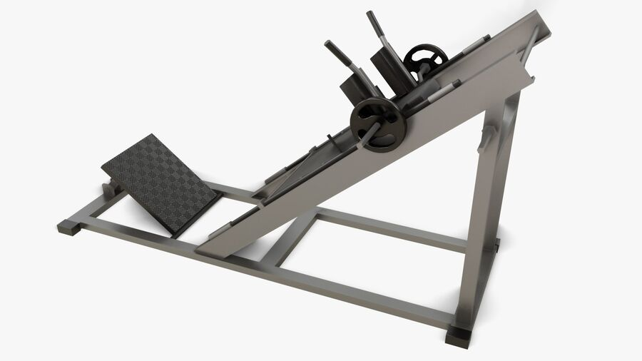 Gym Equipments royalty-free 3d model - Preview no. 31