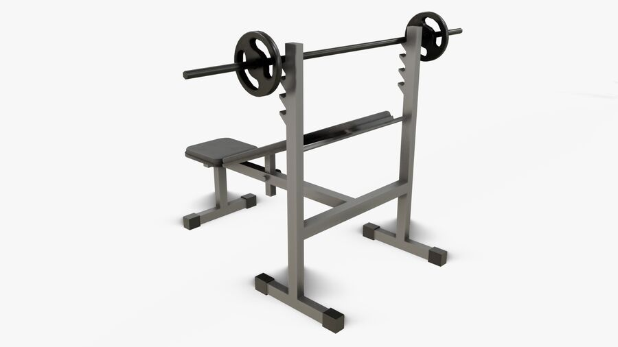 Gym Equipments royalty-free 3d model - Preview no. 13
