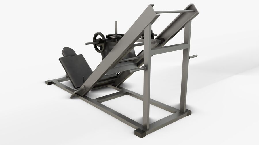 Gym Equipments royalty-free 3d model - Preview no. 29