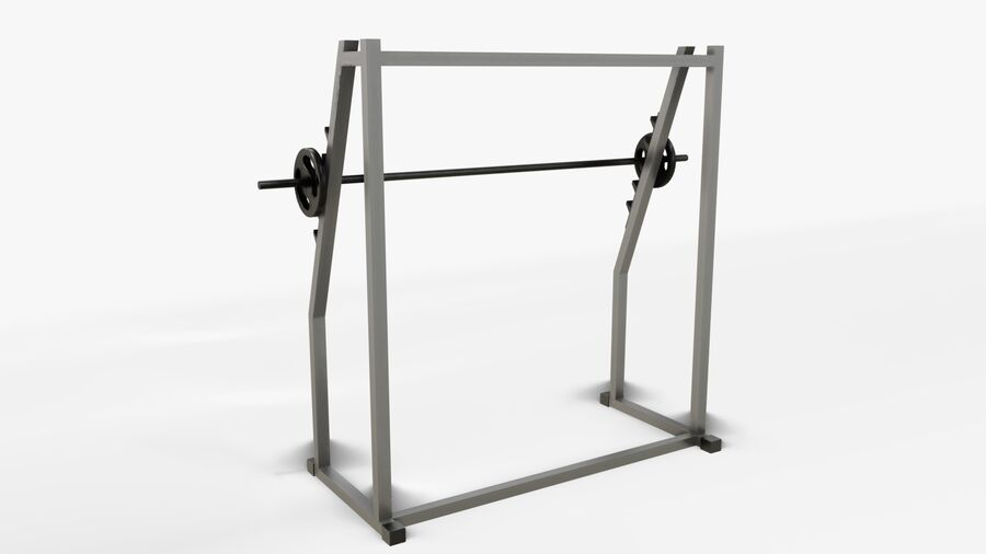 Gym Equipments royalty-free 3d model - Preview no. 17