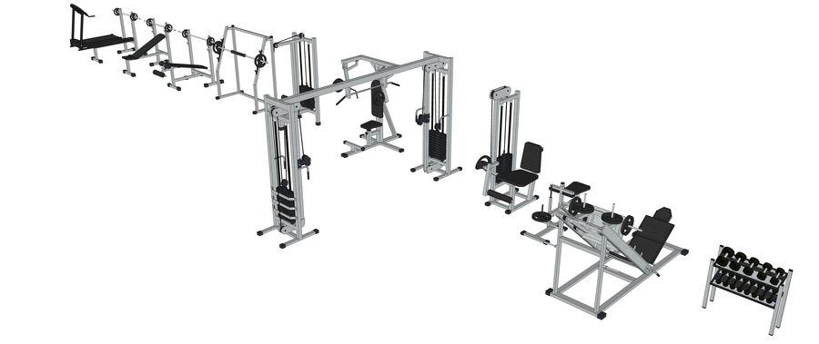 Equipos de gimnasio royalty-free modelo 3d - Preview no. 26