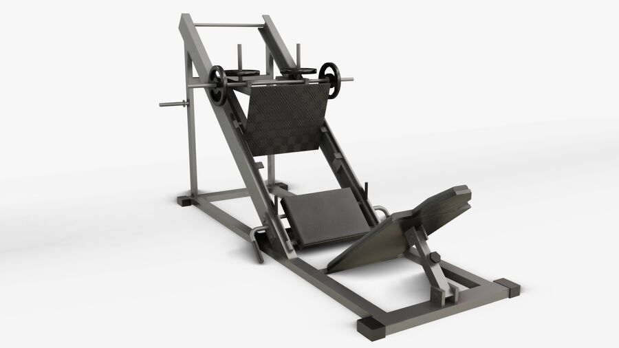 Gym Equipments royalty-free 3d model - Preview no. 28
