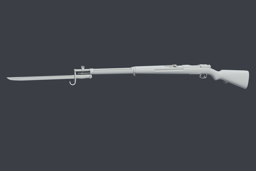 Arisaka Type38 royalty-free 3d model - Preview no. 2