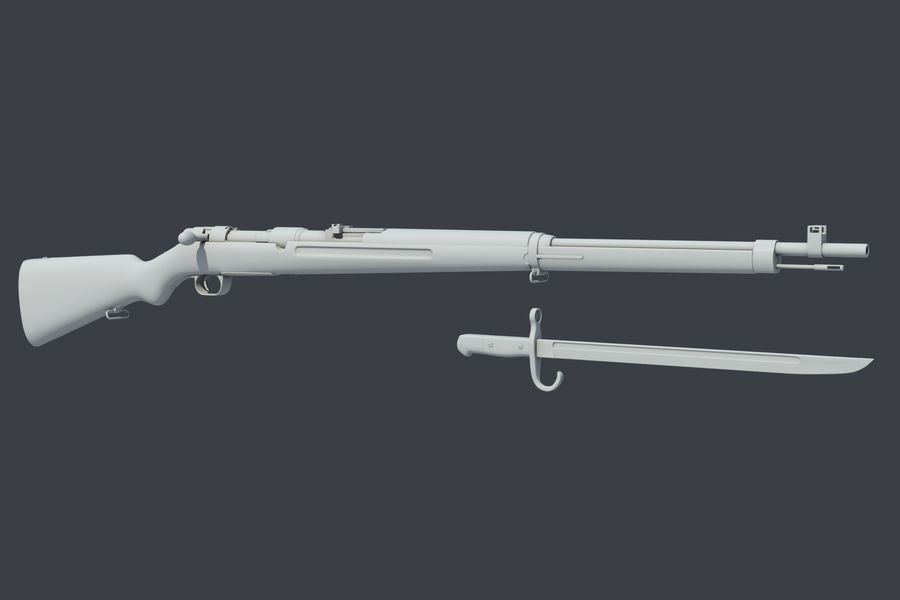 Arisaka Type38 royalty-free 3d model - Preview no. 4