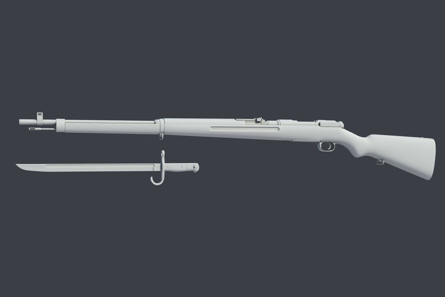 Arisaka Type38 royalty-free 3d model - Preview no. 3