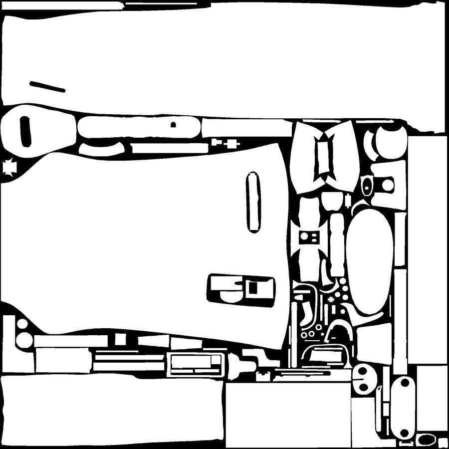 Karabinek M1 royalty-free 3d model - Preview no. 12