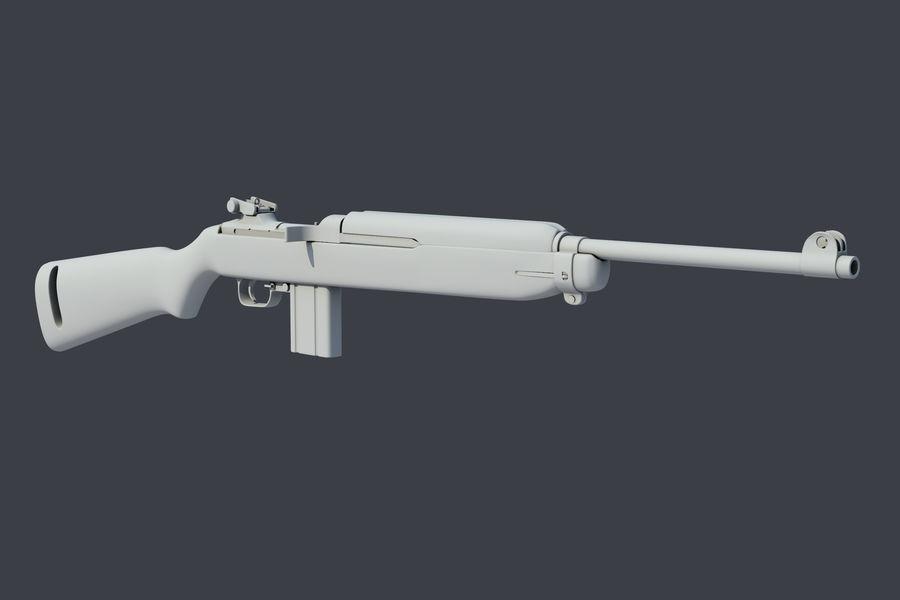 Karabinek M1 royalty-free 3d model - Preview no. 3