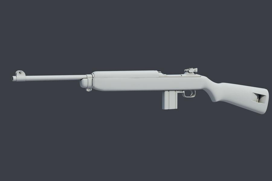 Karabinek M1 royalty-free 3d model - Preview no. 4