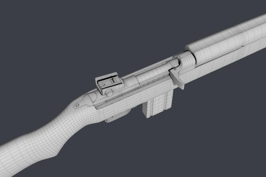 Karabinek M1 royalty-free 3d model - Preview no. 10