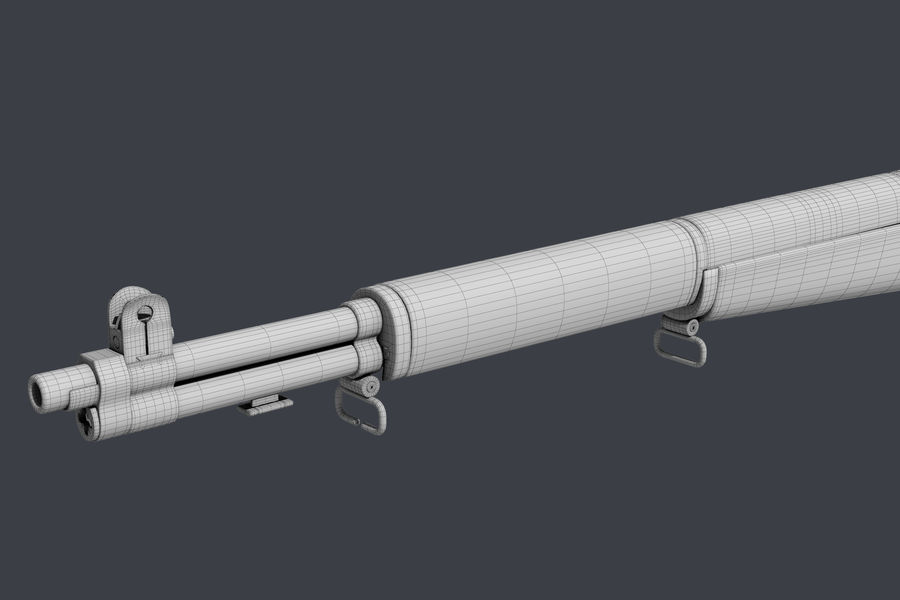 Garand M1 royalty-free 3d model - Preview no. 9